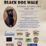 Black Dog Walk & Awareness Day 2013 Flyer