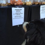 Signage at the treat table. McGrady takes a special interest in treats!