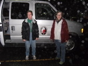 Teresa Bruton & Linda Bittner at an early morning van loadup