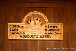 "The ""Mosquito Meter"" located outside the Visitor Center"
